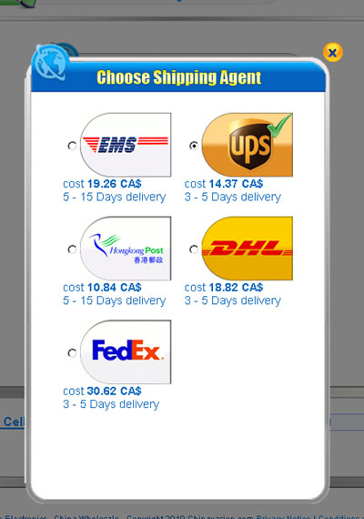 And You Will Be Able To Select EMS From The Shipping Options