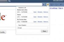 Session Manager for Chrome