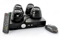 """""""SecurONE Plus"""" – Surveillance Kit: 4 Dome Cameras, 1TB H.264 DVR"""