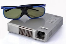 """Video: 3D HD Video Projector """"CinemaX"""", featuring DLP Technology and Active 3D Shutter Glasses [CVQF-E265]"""