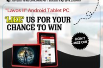"""Facebook Like us to win Red Android 4.2 Tablet """"Lavos II"""" From Chinavasion!"""