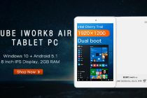 CUBE iWork8 Air: A Dual OS Tablet for 88 USD Only